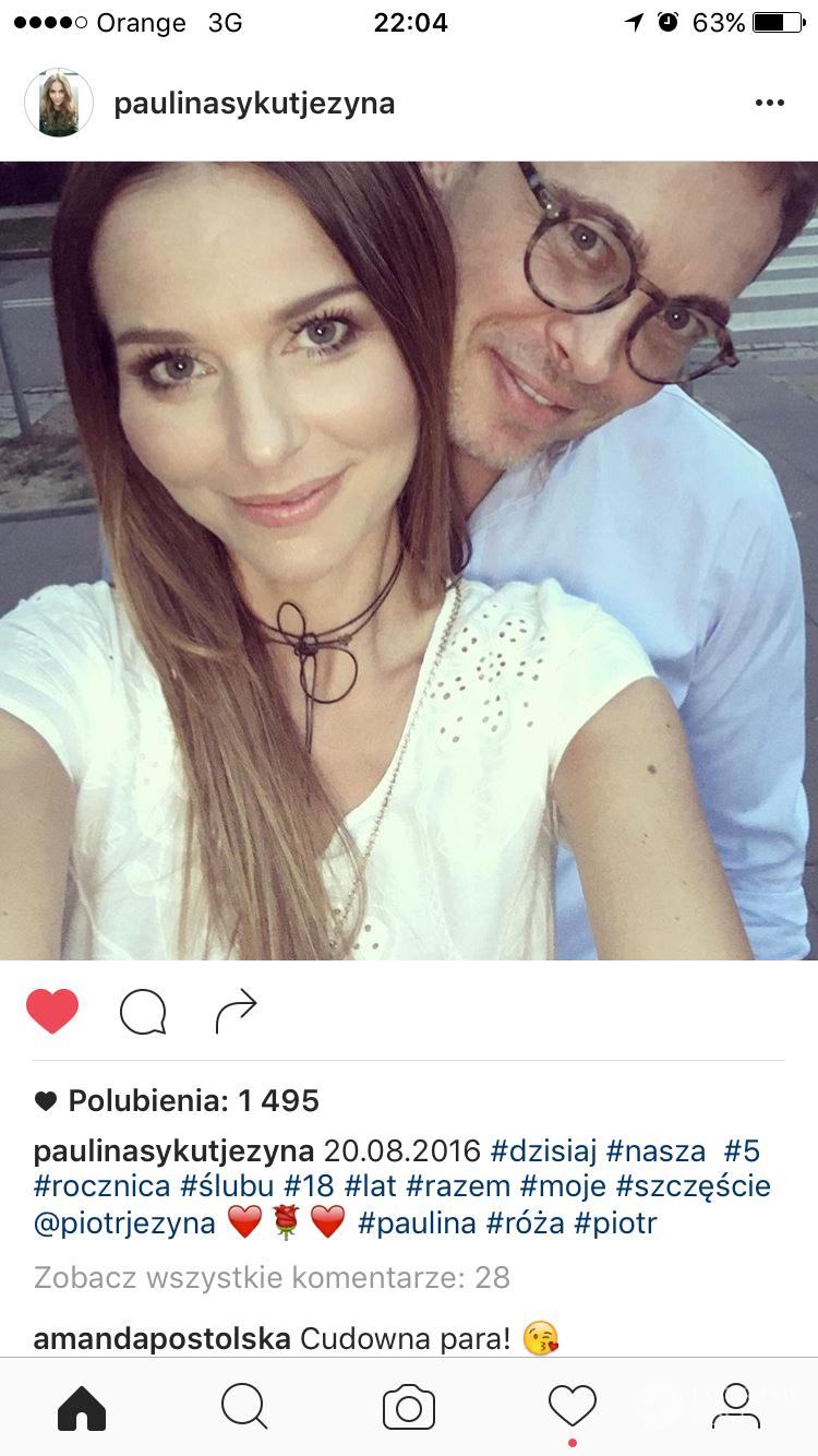 Paulina Sykut świętuje piątą rocznicę ślubu