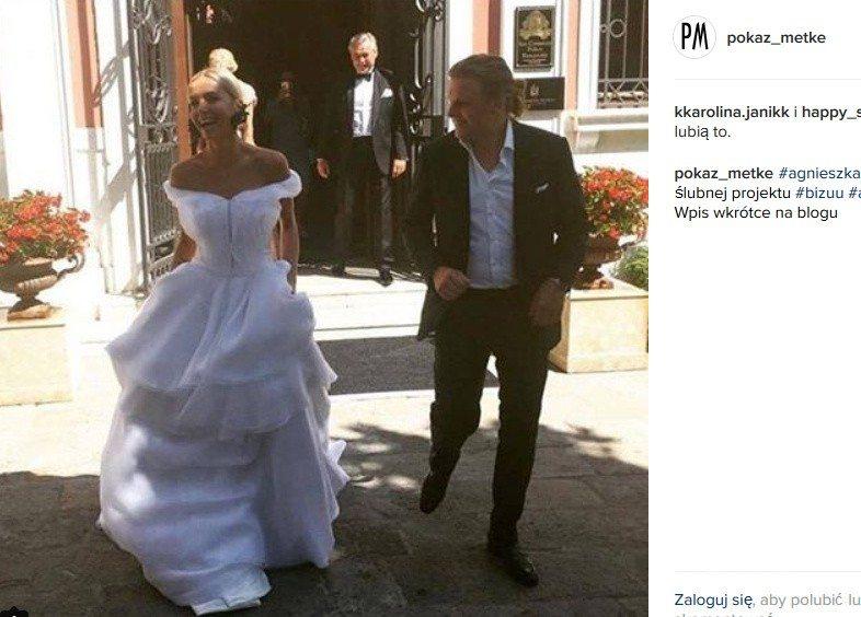 Suknia ślubna Agnieszki Szulim