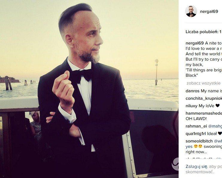 Adam Darski na ślubie w Wenecji