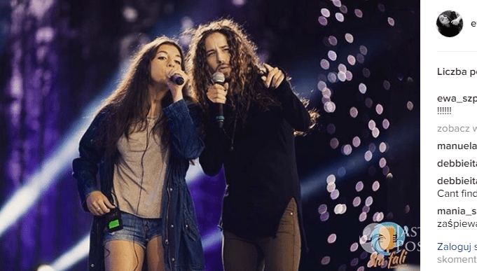 Michał Szpak śpiewa z siostrą Ewą