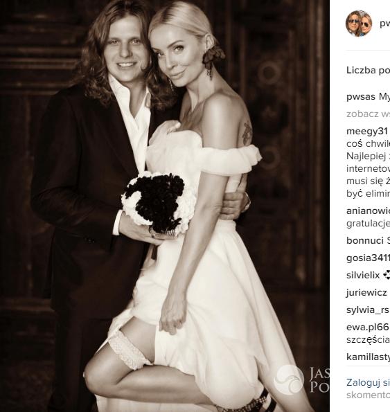 Piotr Woźniak-Starak i Agnieszka Szulim zdjęcie ze ślubu