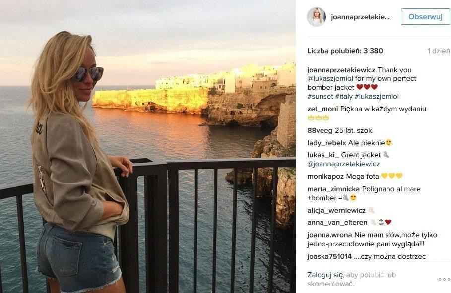 Joanna Przetakiewicz na wakacjach w kurtce Łukasza Jemioła