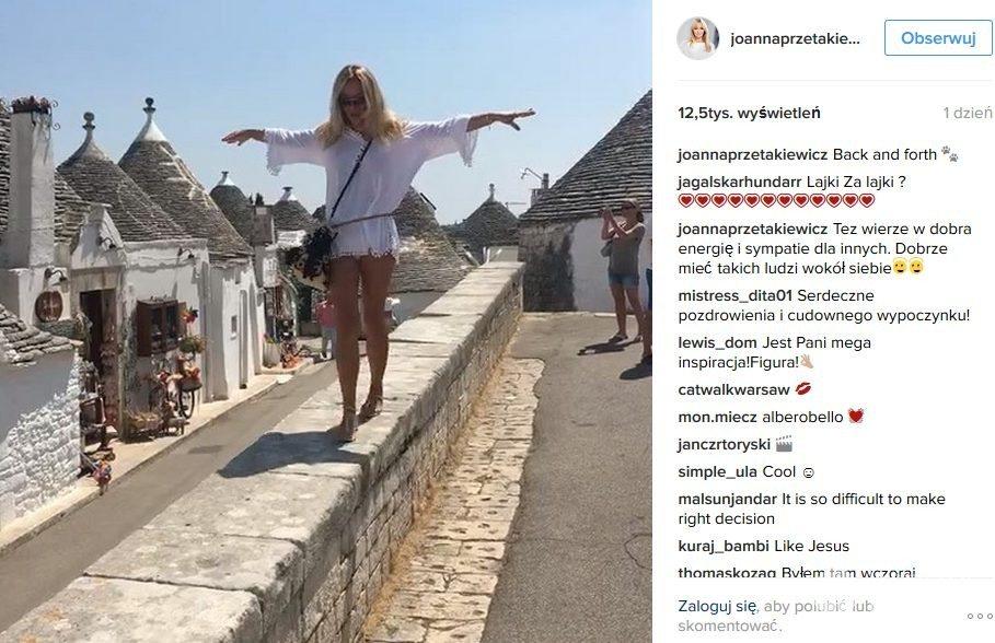Joanna Przetakiewicz na wakacjach