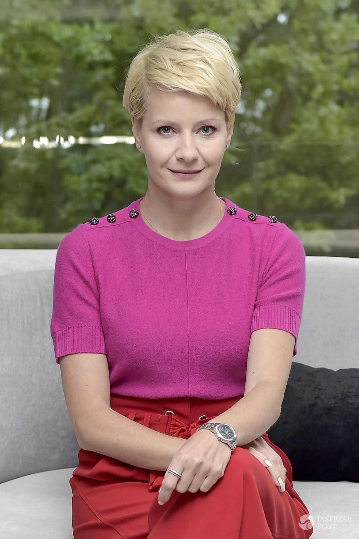 Małgorzata Kożuchowska na planie serialu Druga szansa