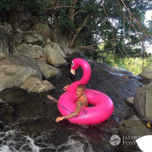 Zdjęcie (8) Agnieszka Hyży kipi seksem! Jej gorące zdjęcia w bikini na dmuchanym flamingu to prawdziwa torpeda! Nie pozuje sama