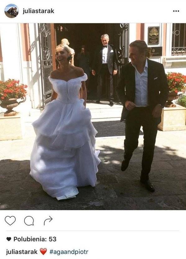 Zdjęcia ze ślubu Agnieszki Szulim i Piotra Woźniaka-Staraka