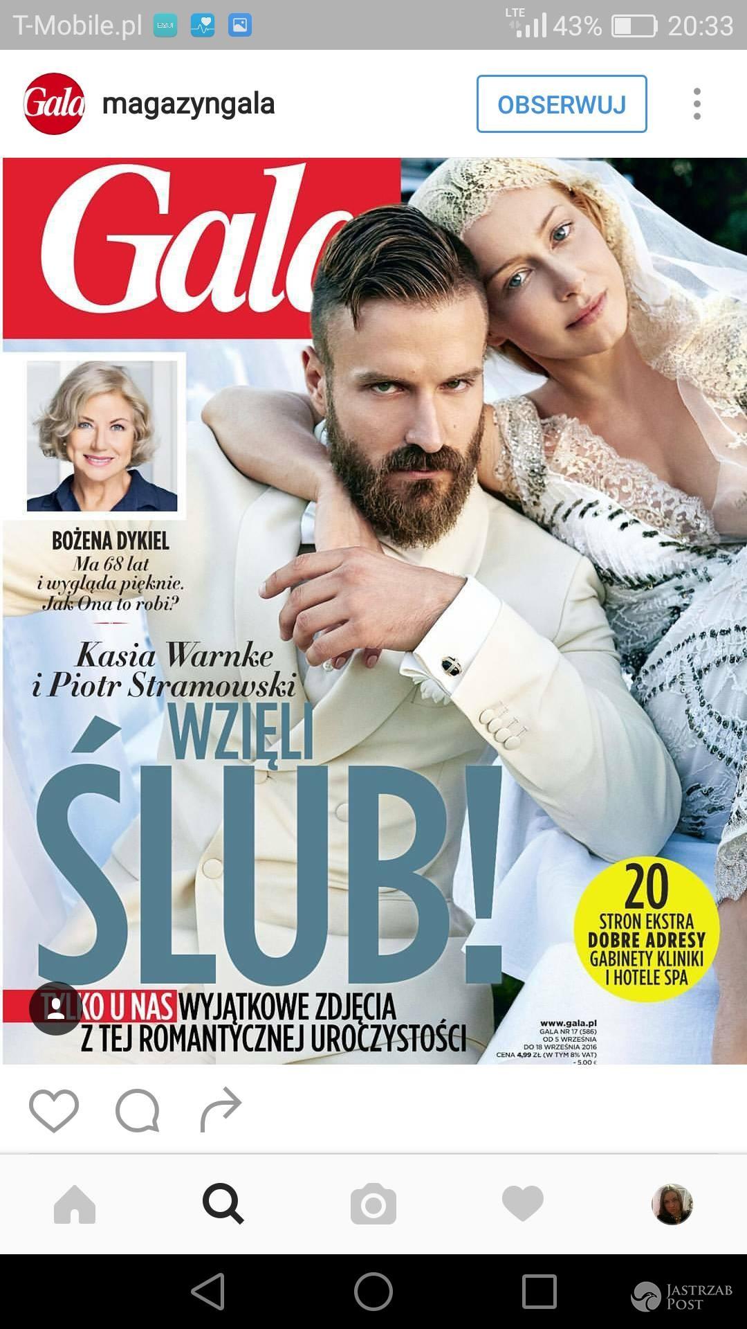 Kasia Warnke i Piotr Stramowski w Gali