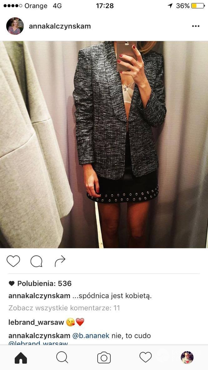 Anna Kalczyńska w bieliźnie na Instagramie