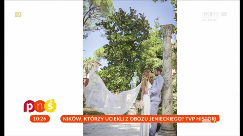 Zdjęcia ze ślubu Magdaleny Waligórskiej fot. screen z programu Pytanie na śniadanie