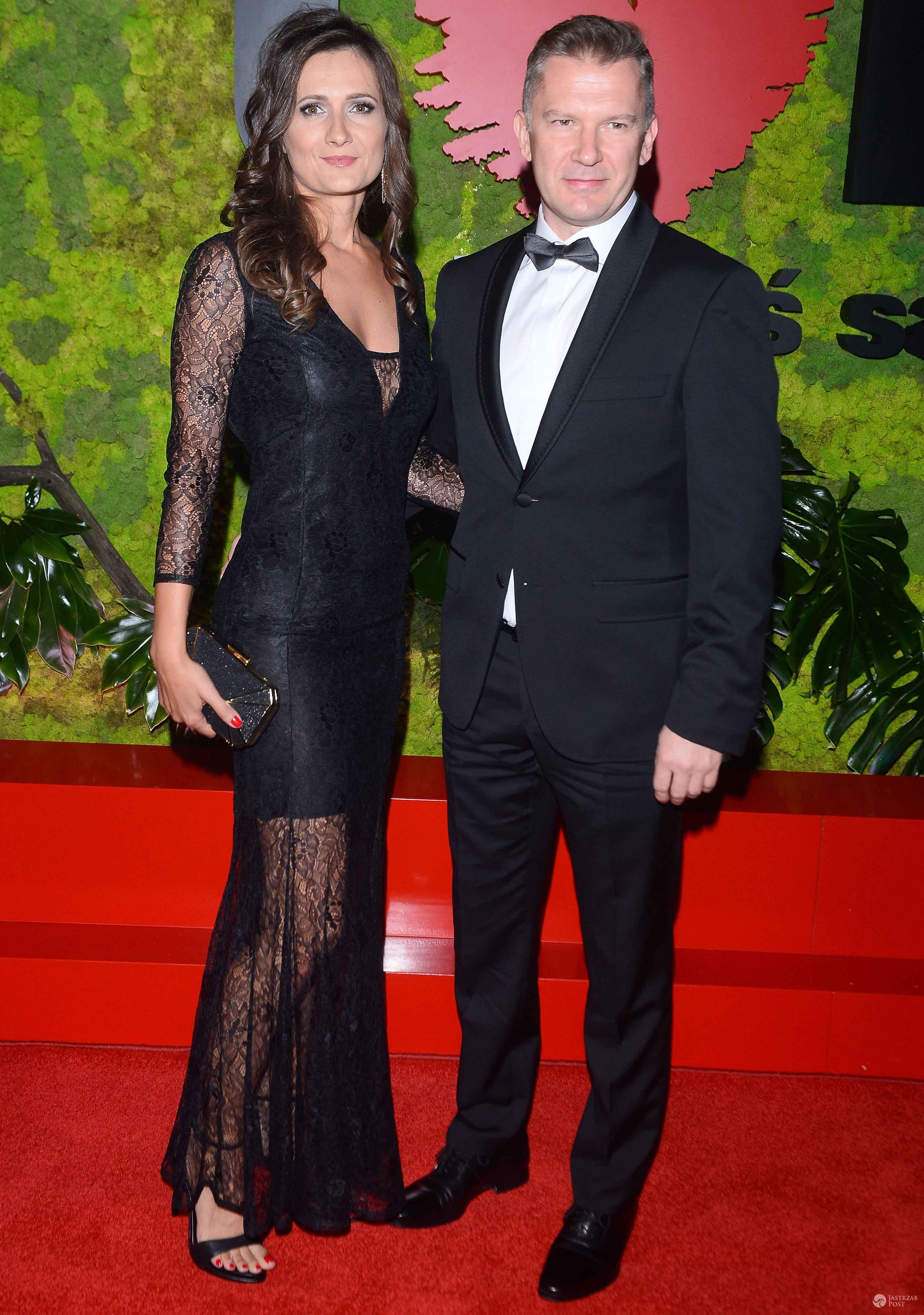 Grzegorz Kajdanowicz z żoną - Bal TVN 2016