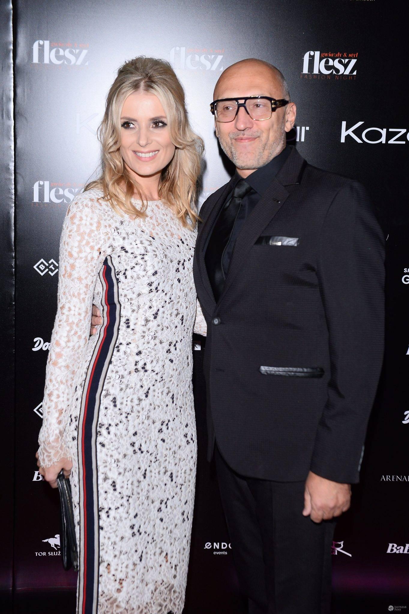 Halina Mlynkova i Leszek Wronka na Flesz Fashion Night 2016. Zdjęcia 2016