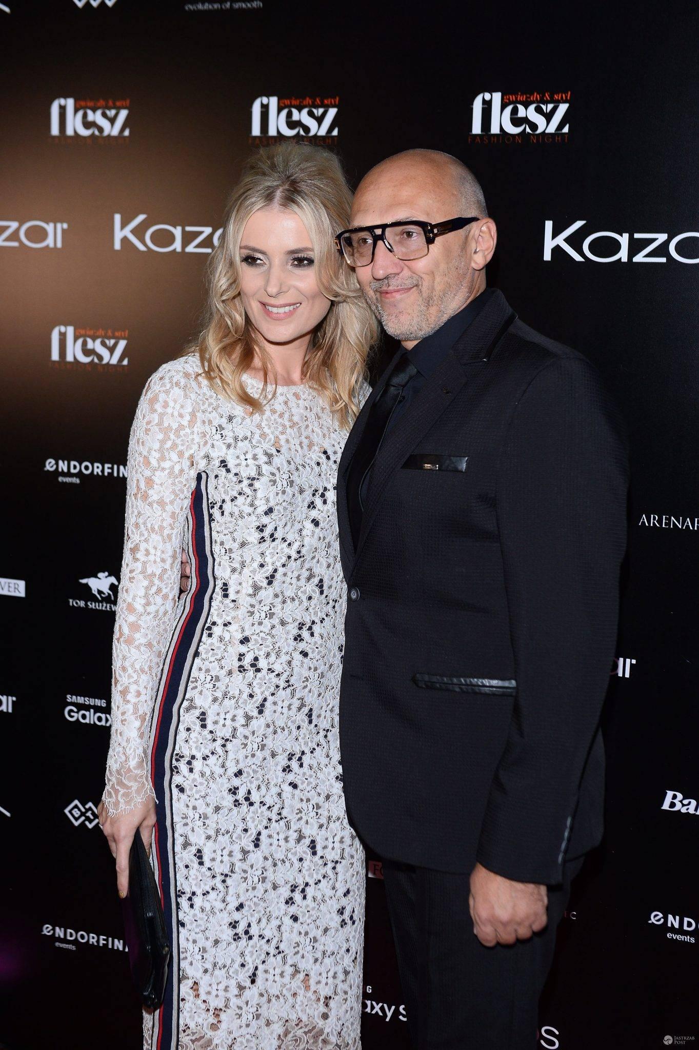 Halina Mlynkova i Leszek Wronka na Flesz Fashion Night 2016. Zdjęcia