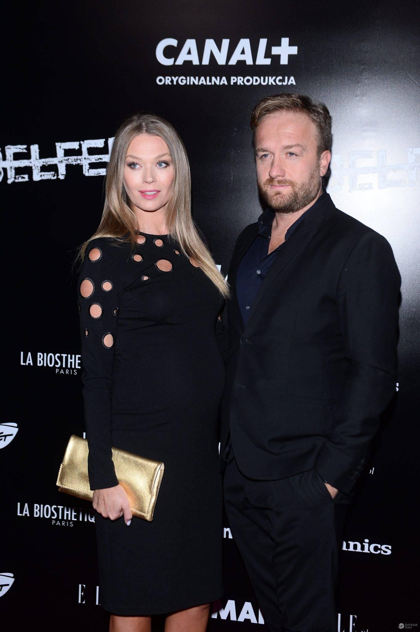 Tamara Arciuch i Bartek Kasprzykowski na premierze serialu Belfer. Zdjęcia 2016