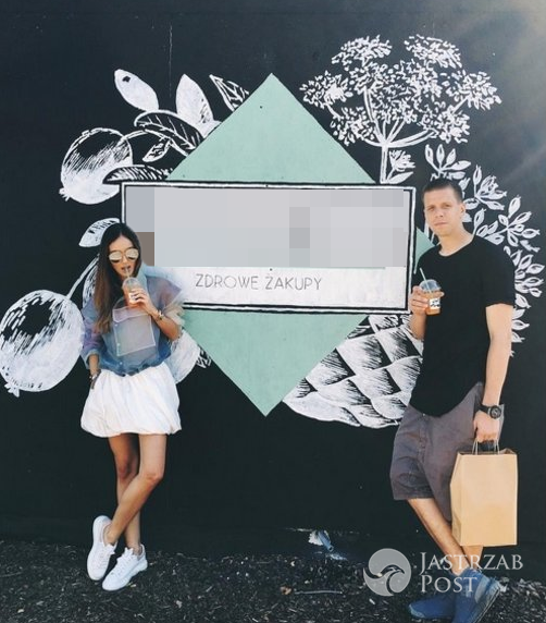 Marina i Wojtek Szczęsny w sklepie z ekologiczną żywnością