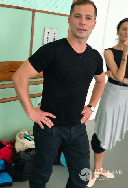 Małgorzata Rozenek z bratem Miszą Kostrzewskim w szkole baletowej