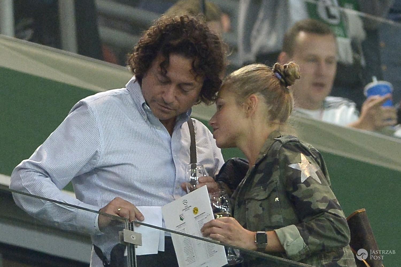 Piotr Rubik, Agata Rubik na meczu Legii Warszawa z Borussią Dortmund