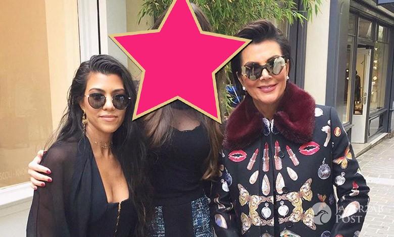 Celia Jaunat, Kourtney Kardashian, Kris Jenner na Fashion Week w Paryżu