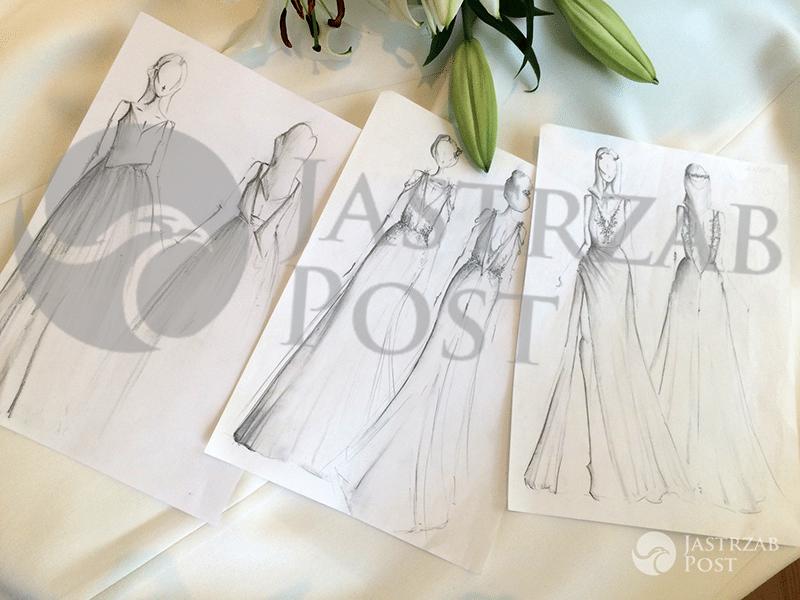 Projekty sukien ślubnych dla Małgorzaty Rozenek