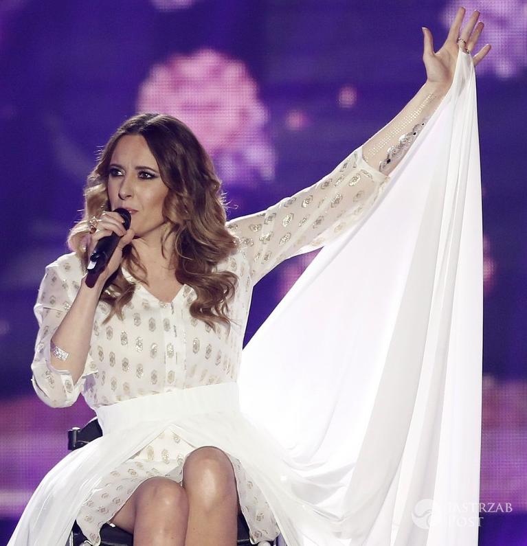 Monika Kuszyńska na Eurowizji 2015 w sukience Marty Kuszyńskiej
