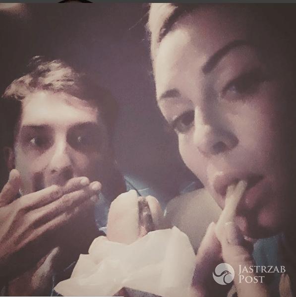 Małgorzata Rozenek je fast food