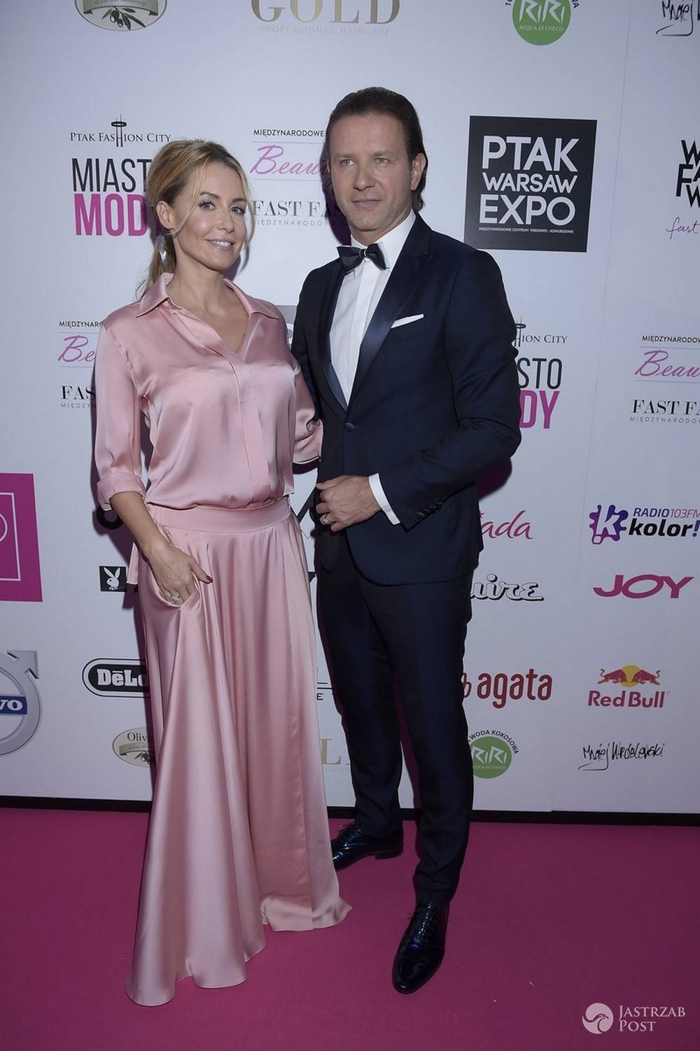 Radosław Majdan i Małgorzata Rozenek Warsaw Fashion Week 2016