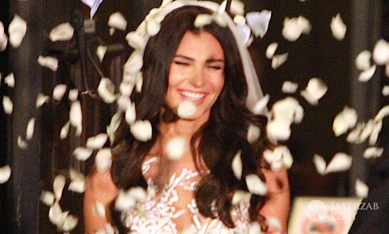 Monika Suchocka w sukni ślubnej Laurelle