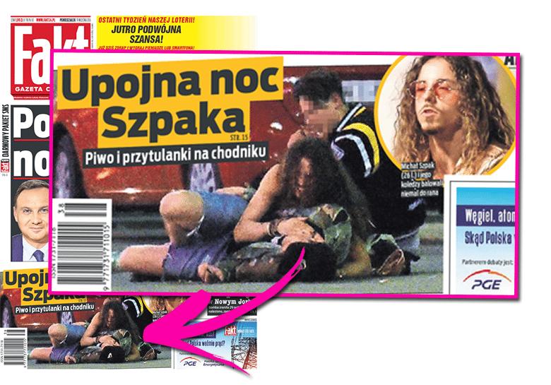 Upojna noc Michała Szpaka - zdjęcia z kolegami
