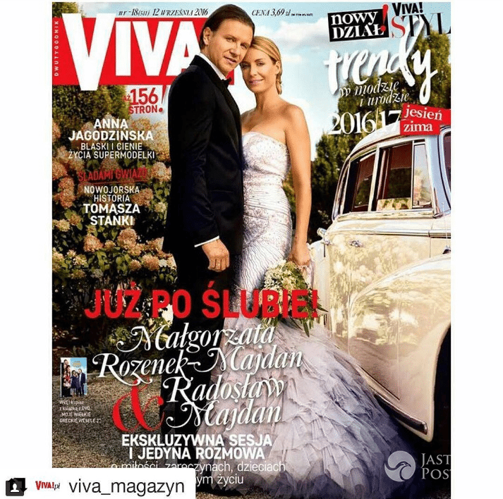 Ślubna sesja Rozenek i Majdana dla Viva!