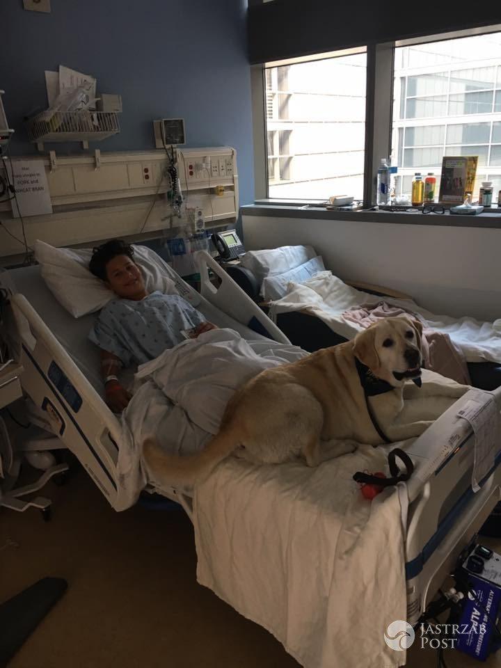 Allan Krupa w szpitalu po operacji usunięcia wyrostka robaczkowego