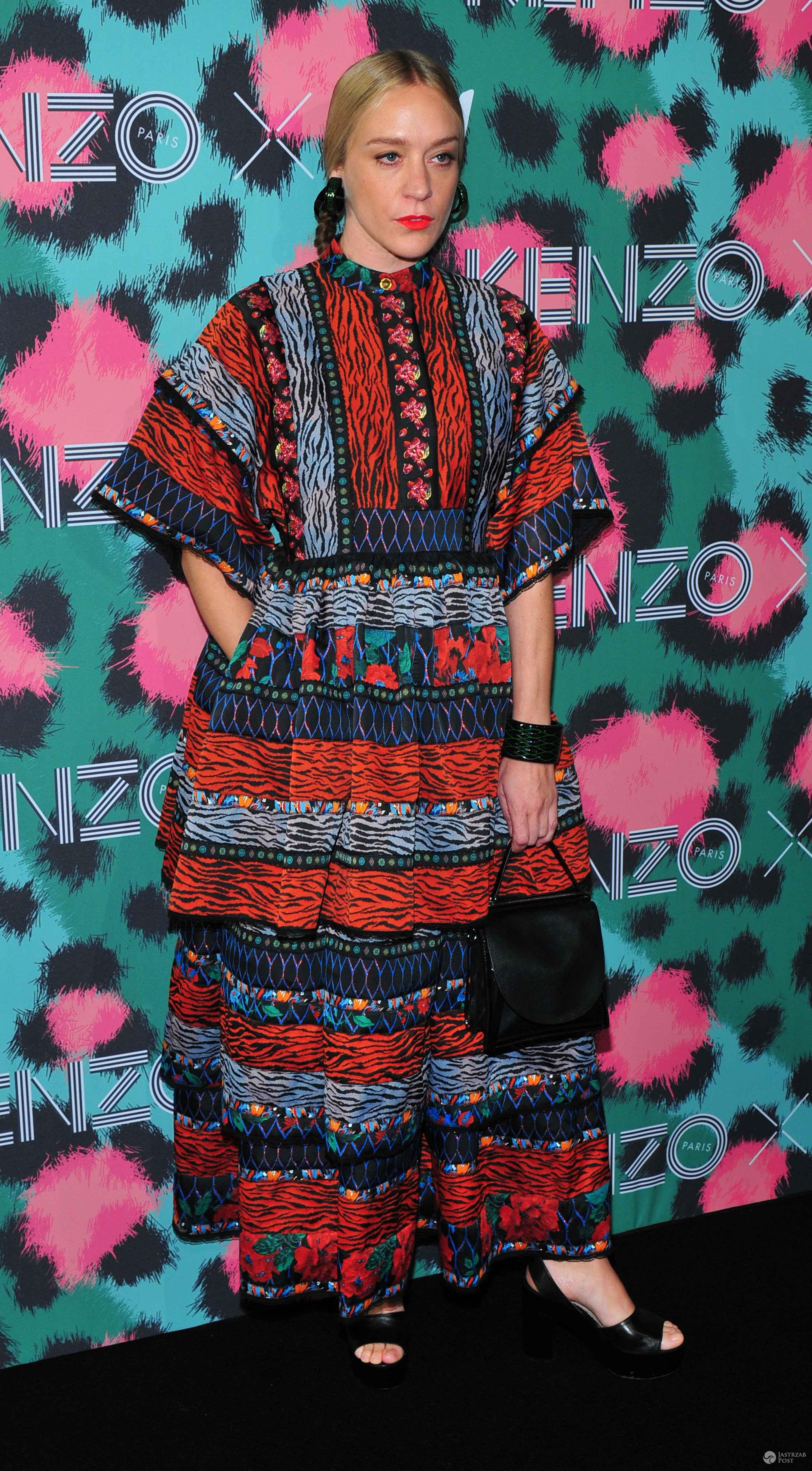 Chloe Sevigny na pokazie kolekcji Kenzo x H&M