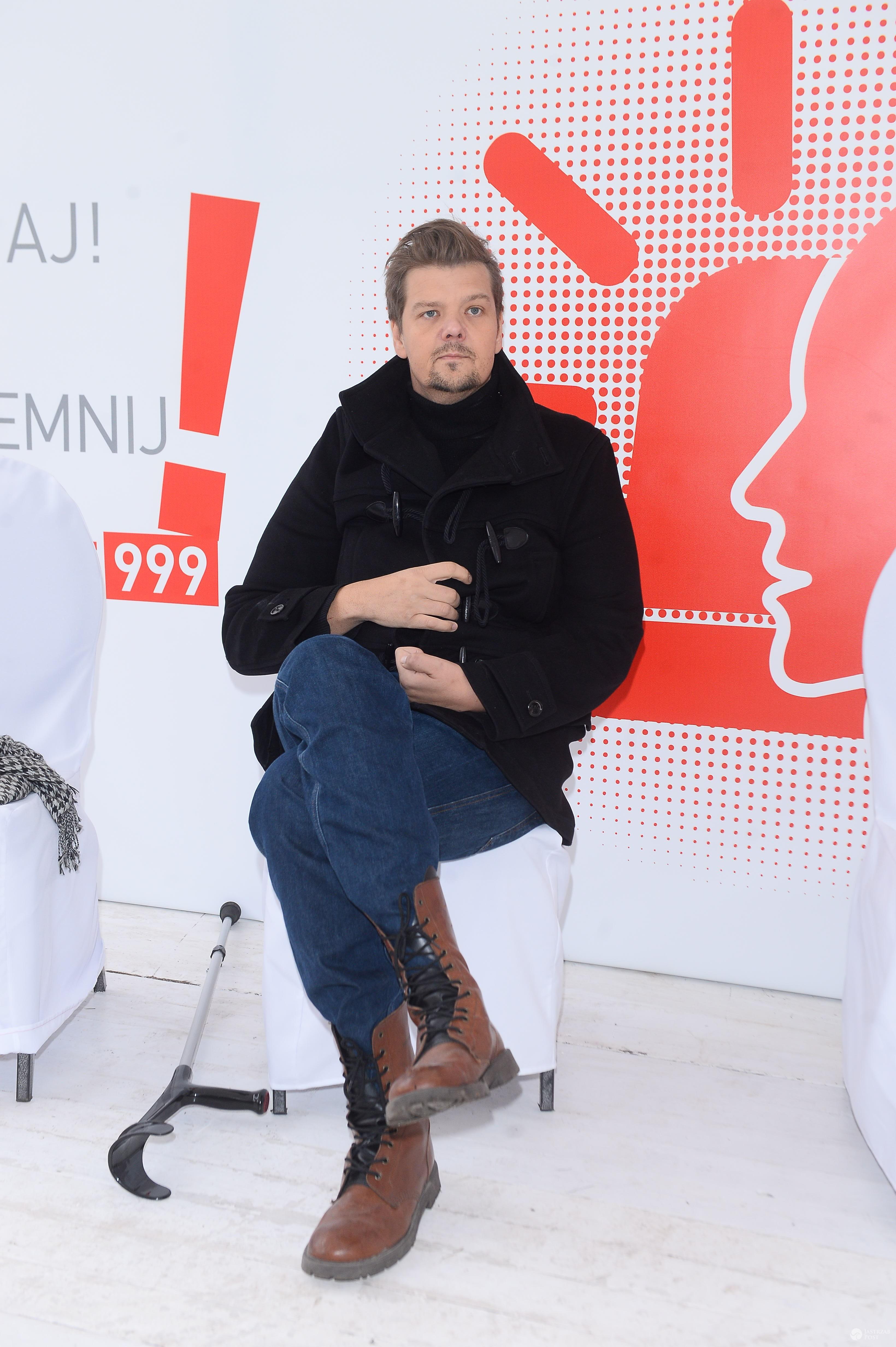 Michał Figurski podczas spotkania zorganizowanego w Światowy Dzień Udaru Mózgu