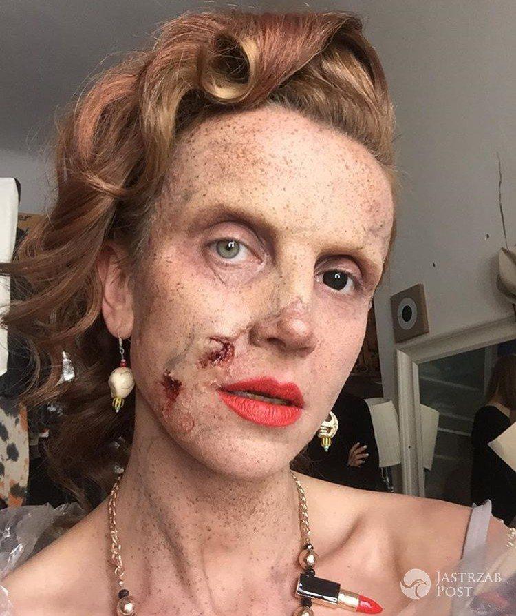 Katarzyna Zielińska w upiornej charakteryzacji na Halloween Instagram