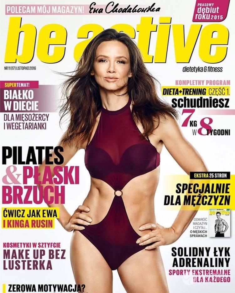 Kinga Rusin na okładce magazynu Be active
