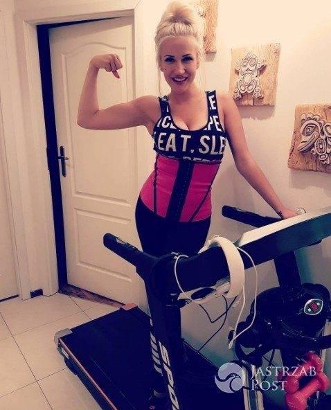 Eliza z Warsaw Shore ćwiczy na bieżni
