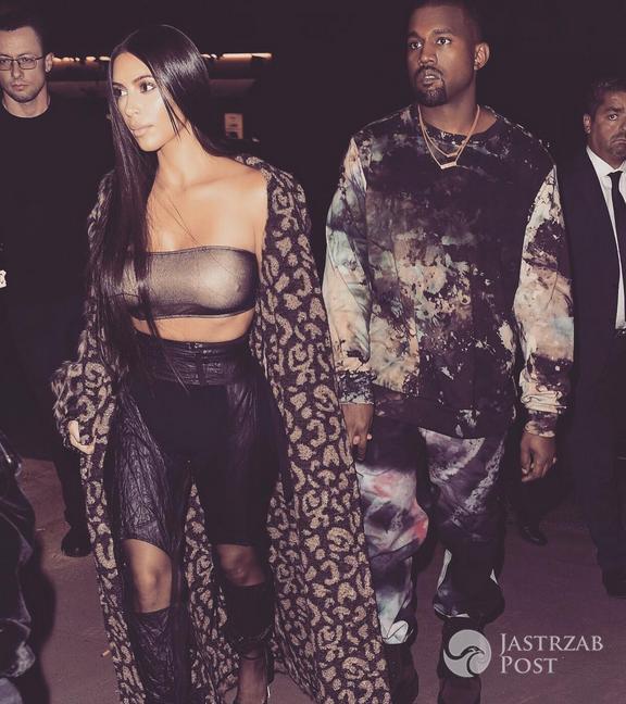 Kim Kardashian i Kanye West podczas Paryskiego Tygodnia Mody 2016