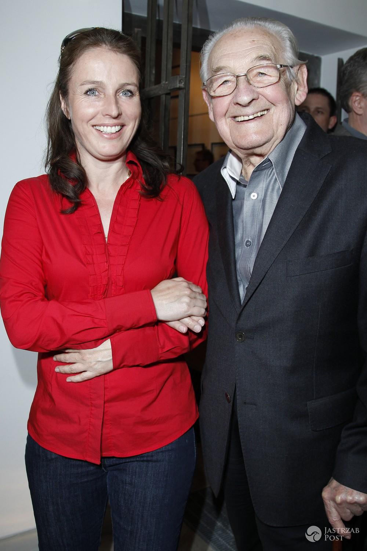 Karolina Wajda z ojcem Andrzejem Wajdą