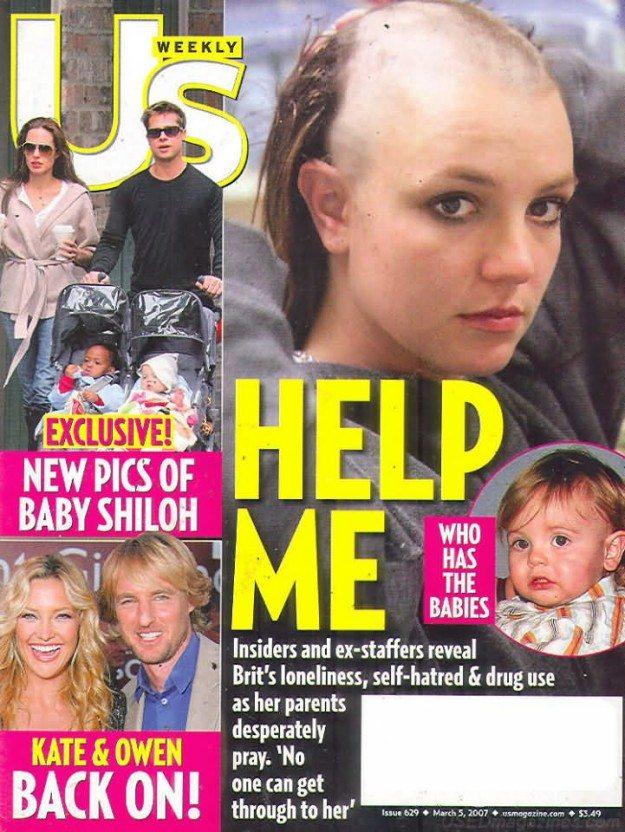 Britney Spears ogoliła głowę na łyso - załamanie nerwowe