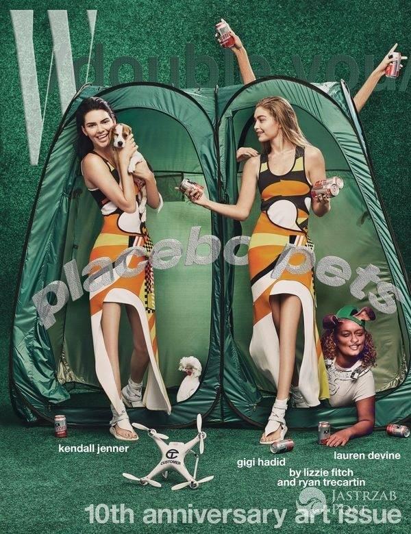Wpadka z Photoshopem - Gigi Hadid i Kendall Jenner na okładce W