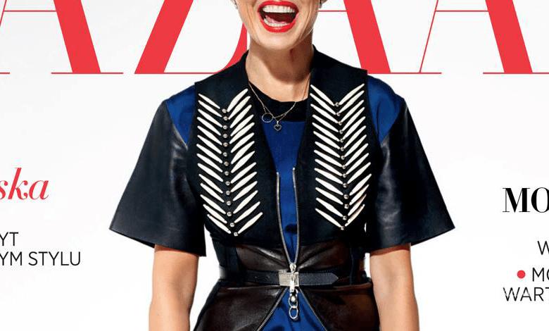 Kasia Sokołowska na okładce Harper's Bazaar