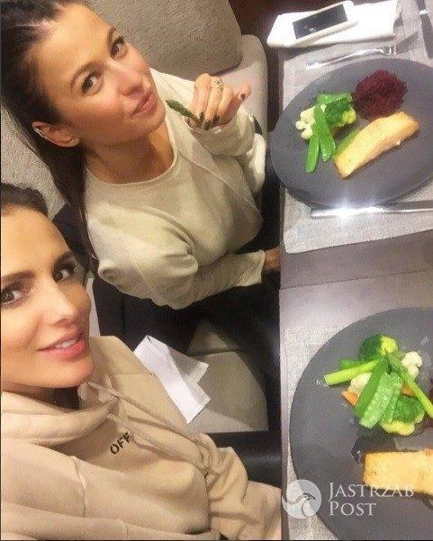 Anna Lewandowska i Sara Boruc na wspólnym obiedzie
