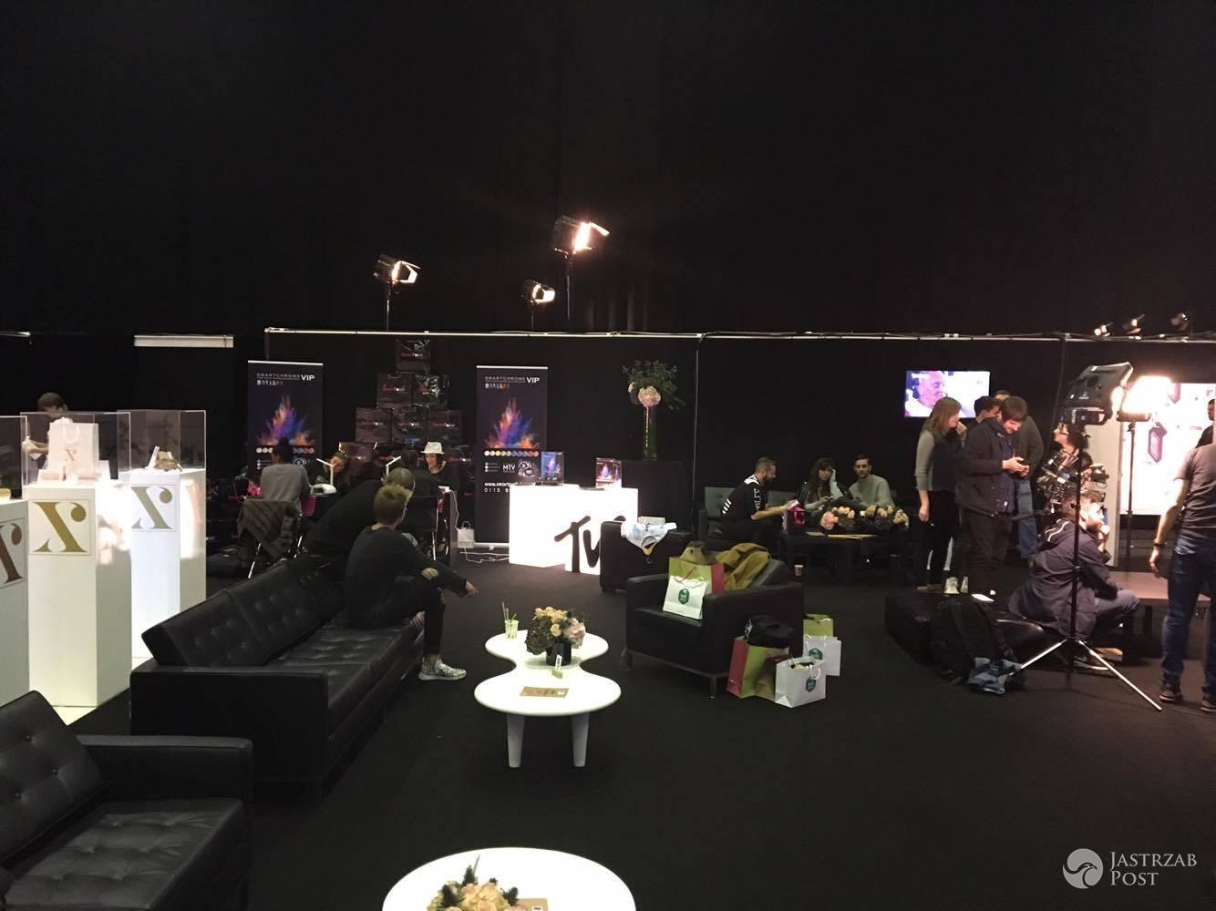 Kulisy MTV EMA 2016 - green room