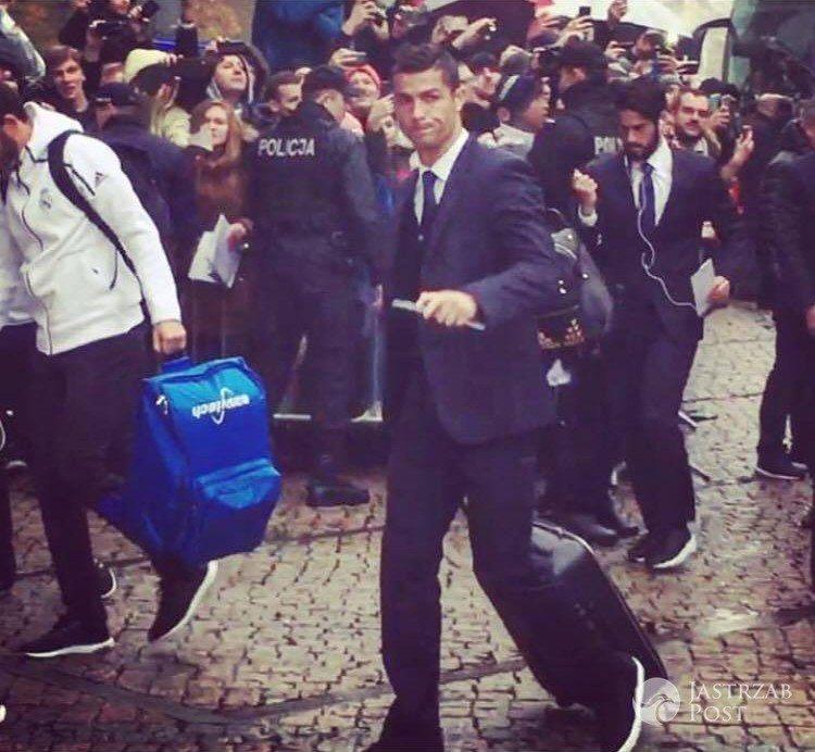 Cristiano Ronaldo w Warszawie Instagram