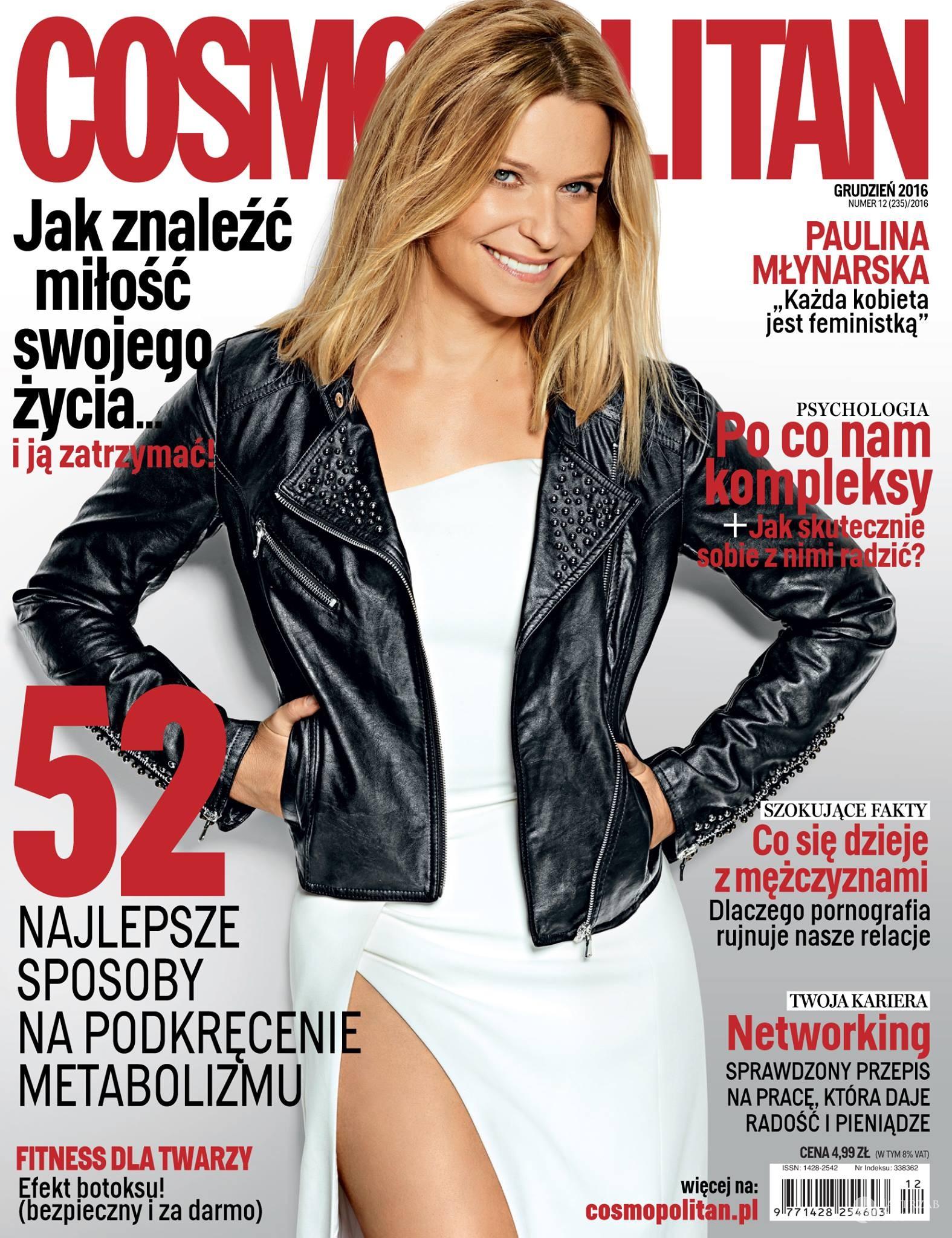 Paulina Młynarska na okładce Cosmopolitan