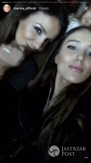 Marina Łuczenko i Sara Boruc na koncercie Justina Biebera