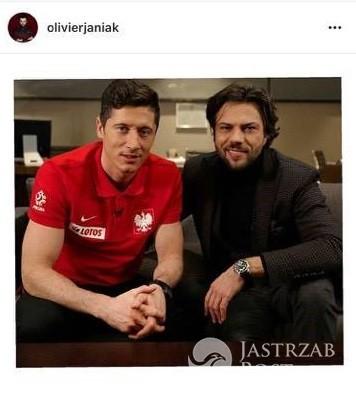 Olivier Janiak kibicuje Polakom w meczu z Rumunią