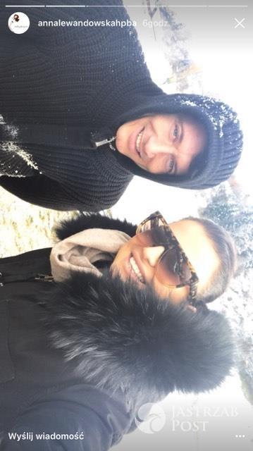 Anna Lewandowska i Robert Lewandowski w górach