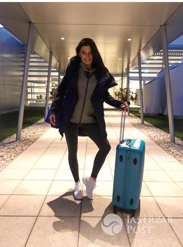 Anna Lewandowska na lotnisku