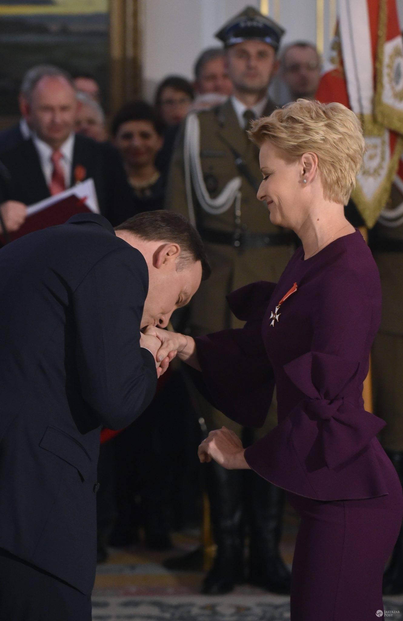 Małgorzata Kożuchowska u Andrzeja Dudy 11 listopada 2016