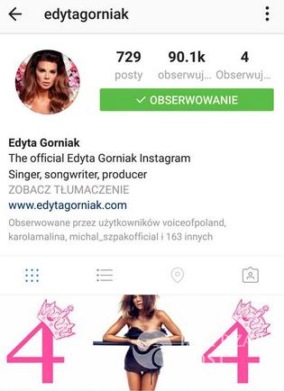 Edyta Górniak świętuje urodziny na Instagramie
