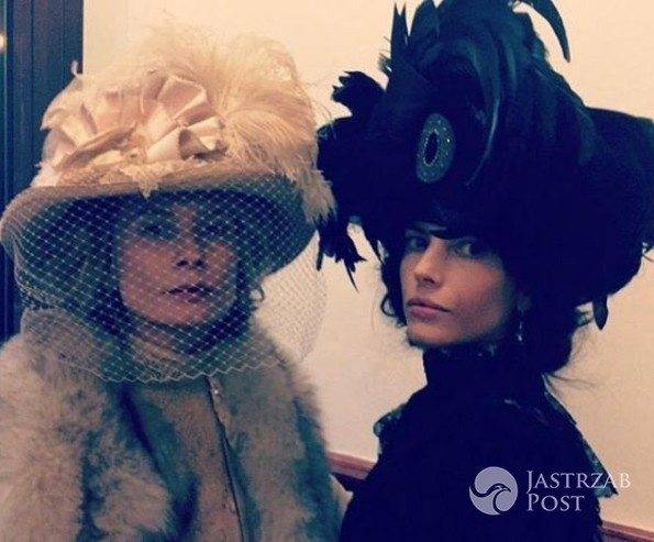 Magdalena Cielecka i Weronika Rosati na planie serialu